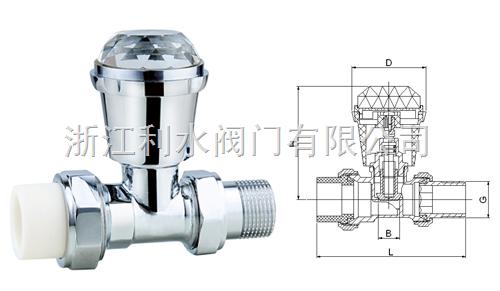 PP-R直式手動溫控閥(精品家裝)
