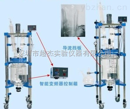 山東擾流板玻璃反應釜 多功能玻璃反應釜制造商