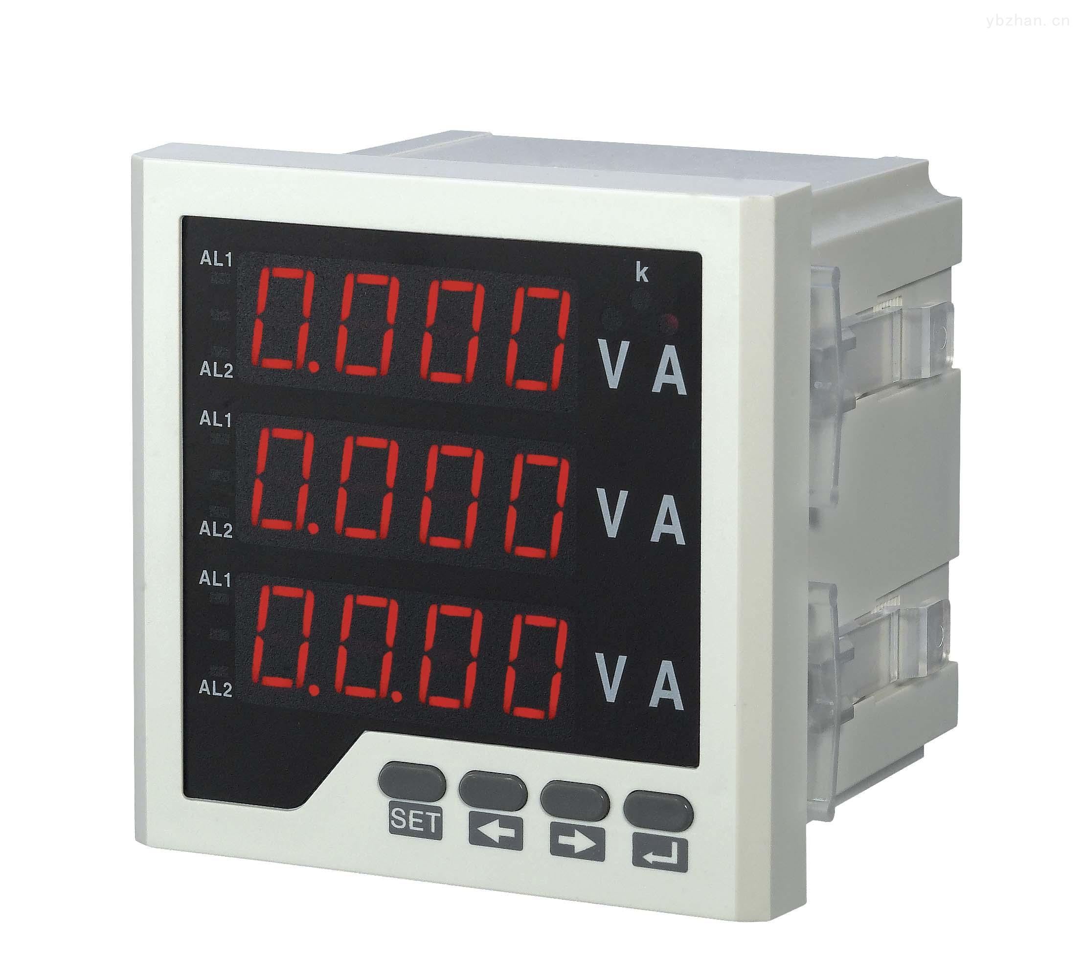 数显三相电流电压组合表
