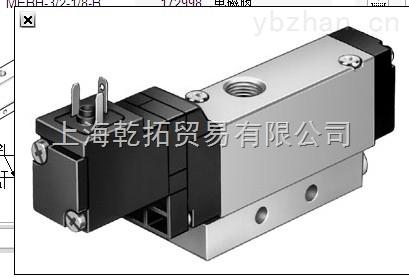 专业经销FESTO电磁阀,MHE3-MS1H-3/2G-1/8