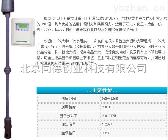 工业酸度计/工业PH计/PH仪