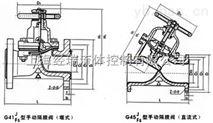 上海直流式法兰手动隔膜阀