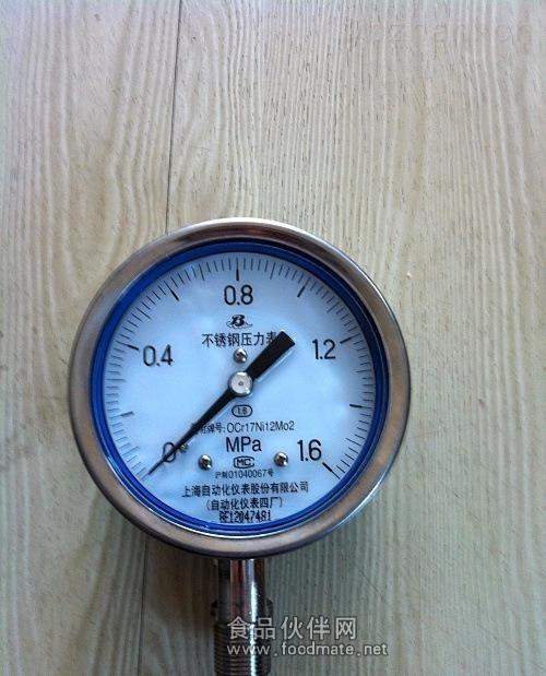 上自仪四厂不锈钢耐震压力表