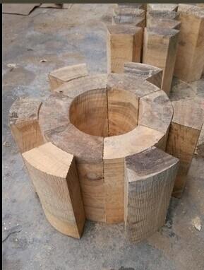 管道垫木 管道木托 空调木托