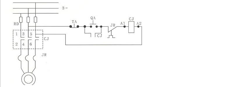 五:cj20交流接触器接线图