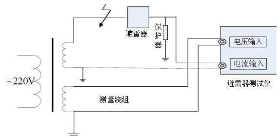 电压信号输入接到试验变压器的测量仪表端