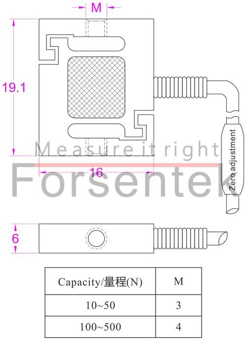 拉压力传感器10N