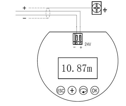 两线制接线图如下