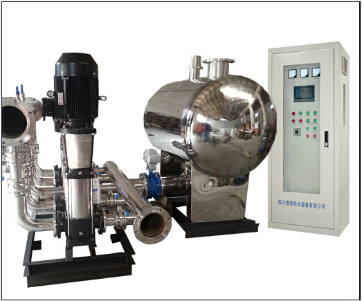 采用智能控制器或可编程控制器(plc)对变频泵组,稳压泵进行控制.